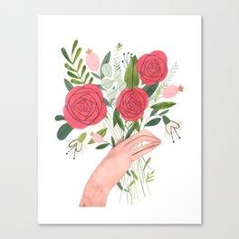 Hand bouquet Canvas Print
