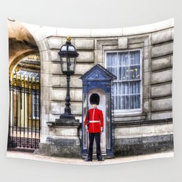 Buckingham Palace Queens Guard Art Wall Tapestry