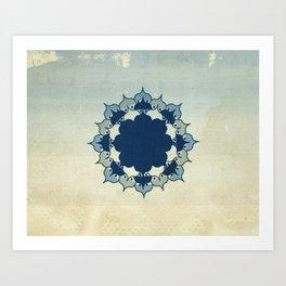 Lotus Mandala Sand Water Wash Art Print