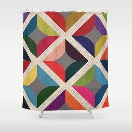 Colourful Geometric Shower Curtain
