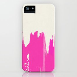 Pink Paint Layers iPhone Case