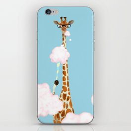 Giraffe Enjoy yummy Cloud Candy iPhone Skin