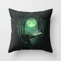 sword Throw Pillows featuring Master Sword by dan elijah g. fajardo