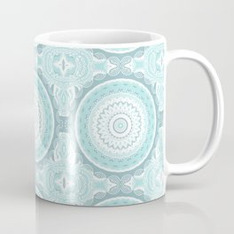 Mandala Pattern Light Blue Teal Aqua Pastels Coffee Mug