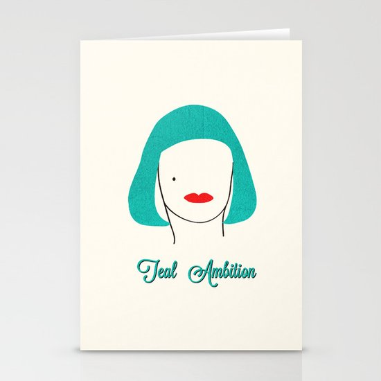 Teal Ambition Stationery Cards