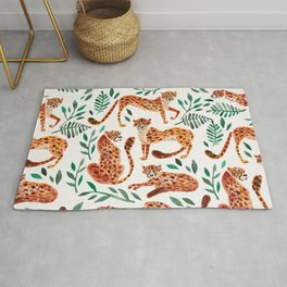 Cheetah Collection – Orange & Green Palette Rug