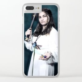 Aasimar Cleric of Enlil with Hammer Cosplay Clear iPhone Case