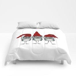 Christmas owls Comforters