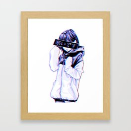 COLD - Sad Japanese Anime Aesthetic Framed Art Print