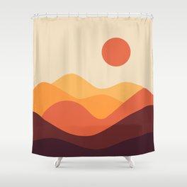 Geometric Landscape 21 Shower Curtain