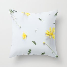 Daisies Are the Friendliest Flowers Throw Pillow