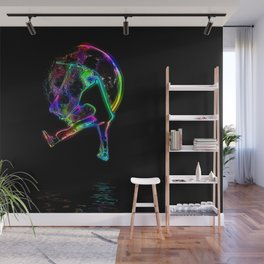 Scoot the Moon - Scooter Boy Wall Mural