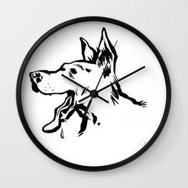 Bon chien Wall Clock