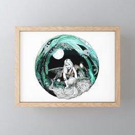 La sirena y el pescador Framed Mini Art Print