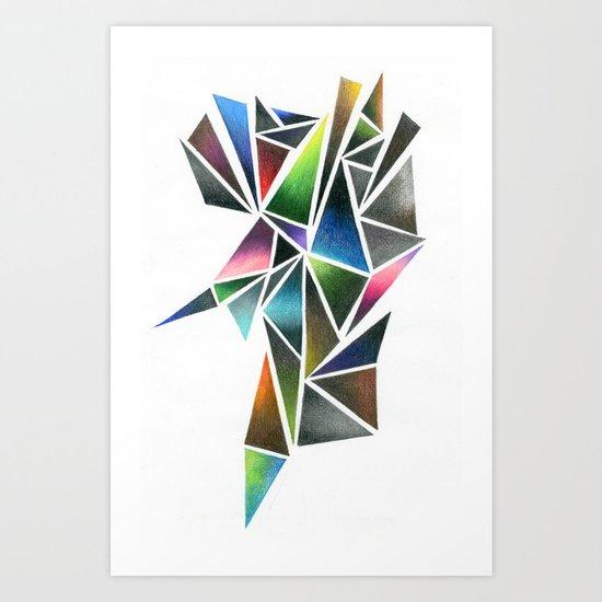 Digital Stone Art Print