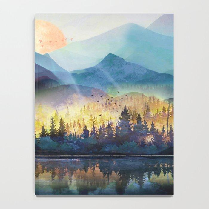 Mountain Lake Under Sunrise Notebook