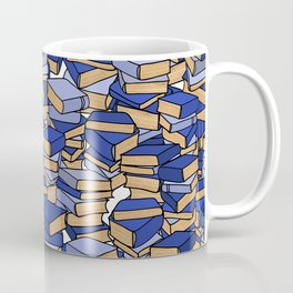 Book Collection in Blue Coffee Mug