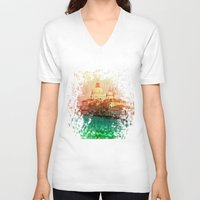 venice V-neck T-shirts featuring Venice by GingerRogers