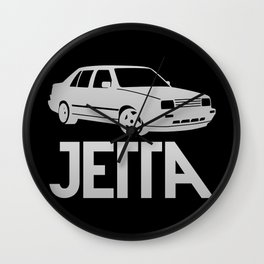 Volkswagen Jetta - silver - Wall Clock
