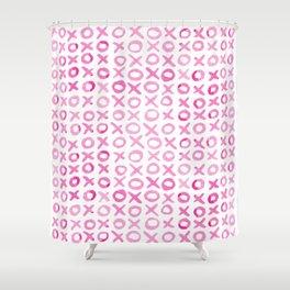 Xoxo valentine's day - pink Shower Curtain