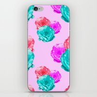 peonies iPhone & iPod Skins featuring Peonies by Aneela Rashid