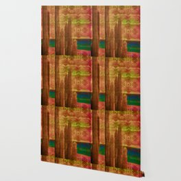 Tribal Mauve Cactus Wallpaper
