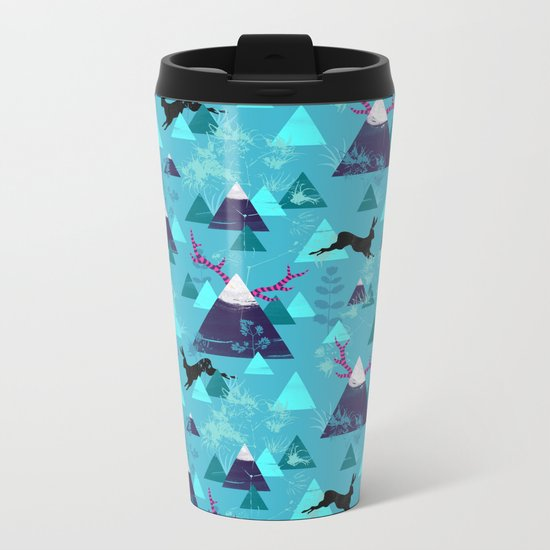 blu mountains Metal Travel Mug