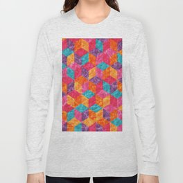 Colorful Isometric Cubes II Long Sleeve T-shirt