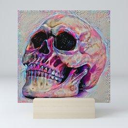 Cool And Colourful Paint Splash Gothic Skull Art Unique Modern Design Mini Art Print