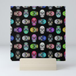 I love your Robotic Skull Heart on Black Mini Art Print