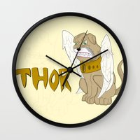 thor Wall Clocks featuring Thor by QUED