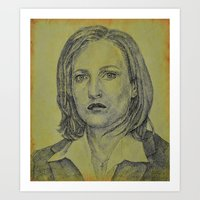 scully Art Prints featuring Scully by Jenn
