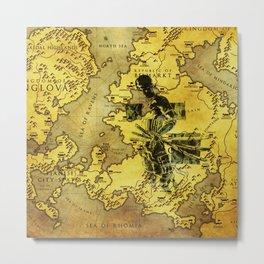 zoro map of the sea Metal Print