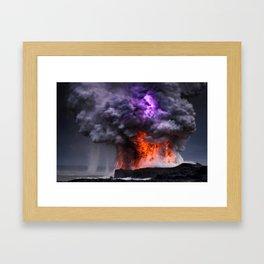 Kilauea Volcano at Kalapana 7 Framed Art Print