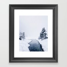 Whiteout Framed Art Print
