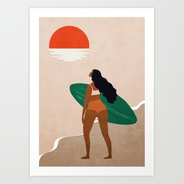 After surfing color 2 Art Print