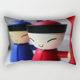 The Happy Eggcups Rectangular Pillow
