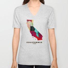 California state map modern Unisex V-Neck
