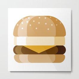 Breakfast Sandwich Metal Print