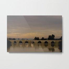 Bridge at Twilight Metal Print