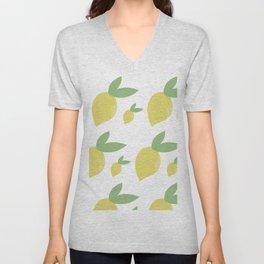 Lemon Pattern Unisex V-Neck