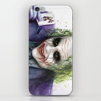 the joker iPhone & iPod Skins featuring Joker  by Olechka