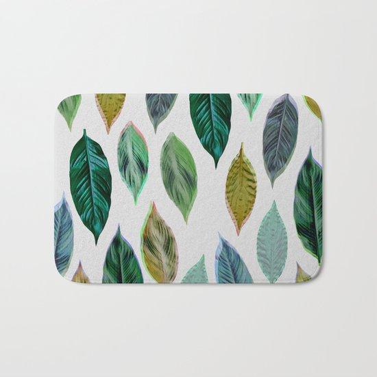 Green Leaves 2 Bath Mat