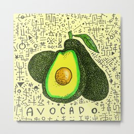Avocado. Metal Print