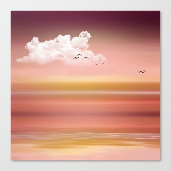 FROM DUSK TO DAWN - a golden sunset Canvas Print