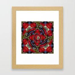 Water Lily Fractal Framed Art Print