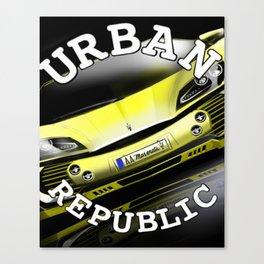 Sport Car & Paradise Canvas Print
