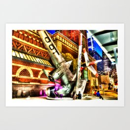 Philly Plane HDR Art Print