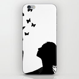 Angel Wings And Butterfly Effect iPhone Skin