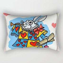 The Trumpeting Bunny Rectangular Pillow
